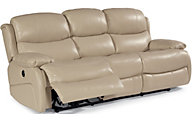 Flexsteel Amsterdam Cream Leather Power Reclining Sofa
