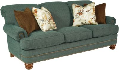 Flexsteel Bay Bridge Teal Sofa