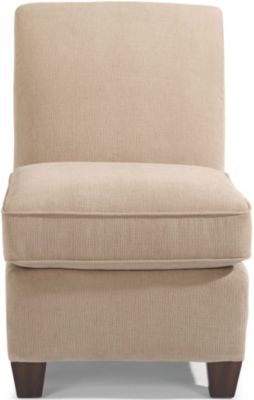 Flexsteel Dana Cream Armless Chair