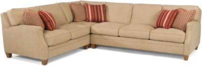 Flexsteel Lennox Cream 3-Piece Sectional