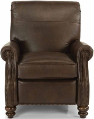 Flexsteel Bay Bridge Brown 100% Leather Power Recliner