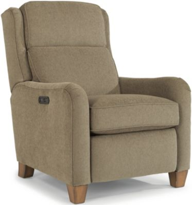 Flexsteel Poet Tan Power Recliner with USB Port