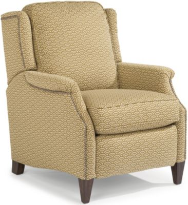 Flexsteel Zevon Cream Press-Back Recliner
