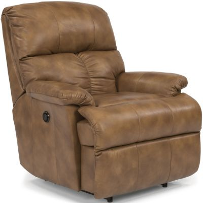 Flexsteel Triton Tan 100% Leather Power Wall Recliner