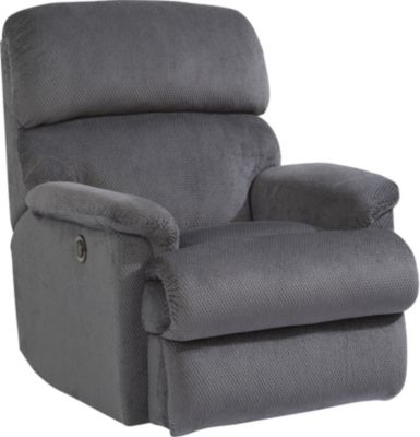 Flexsteel Chicago Gray Power Rocker Recliner