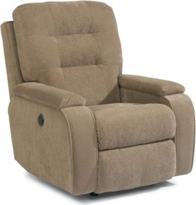 Flexsteel Kerrie Cream Power Rocker Recliner
