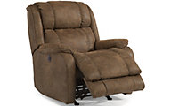 Flexsteel Marcus Brown Power Rocker Recliner