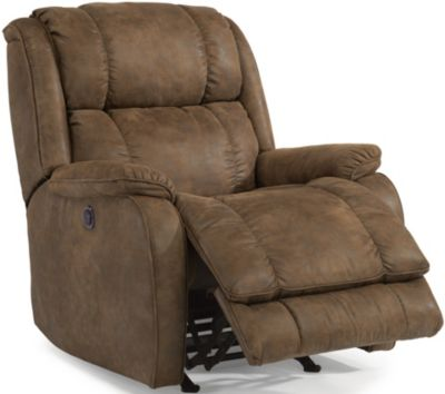 Flexsteel Marcus Brown Power Wall Recliner