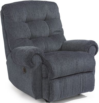 Flexsteel Torrence Blue Power Rocker Recliner