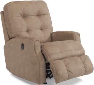 Flexsteel Devon Cream Power Rocker Recliner