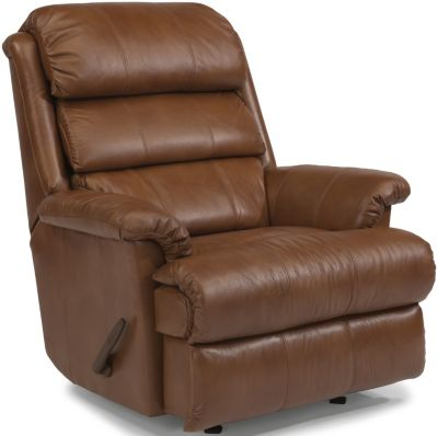 Flexsteel Yukon Mocha Leather Wall Recliner
