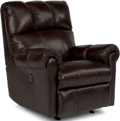 Flexsteel McGee Leather Power Rocker Recliner