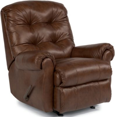 Flexsteel Torrence Brown Leather Wall Recliner