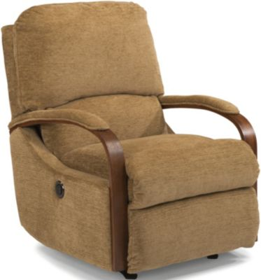 Flexsteel Woodlawn Tan Power Rocker Recliner