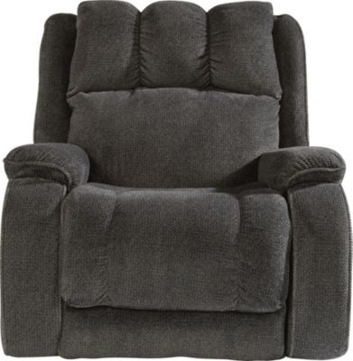 Flexsteel Huron Gray Power Rocker Recliner