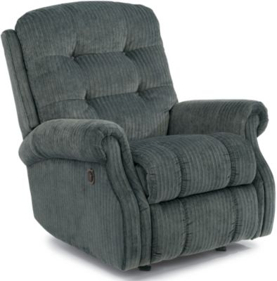 Flexsteel Mackenzi Blue Power Rocker Recliner