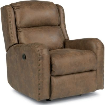 Flexsteel Cameron Mocha Power Rocker Recliner