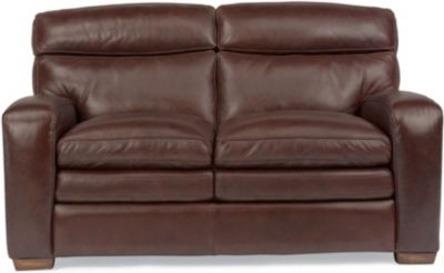 Flexsteel Bixby Leather Loveseat