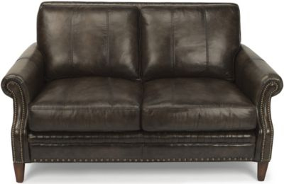 Flexsteel Daltry 100% Leather Loveseat