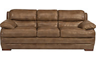 Dylan 100% Leather Light Brown Sofa
