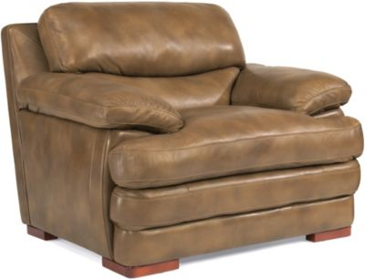 Dylan 100% Leather Light Brown Chair