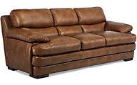 Dylan 100% Leather Mocha Sofa