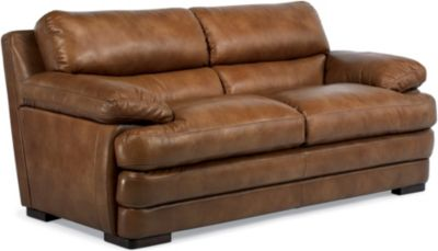 Dylan 100% Leather Mocha Loveseat
