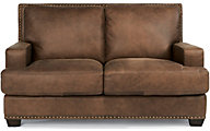 Fremont 100% Leather Loveseat