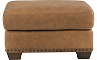 Fremont 100% Leather Ottoman