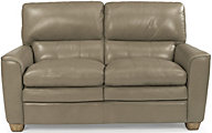 Flexsteel Ivy Tan Leather Loveseat