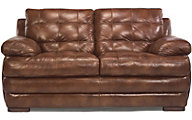 Jacob 100% Leather Loveseat