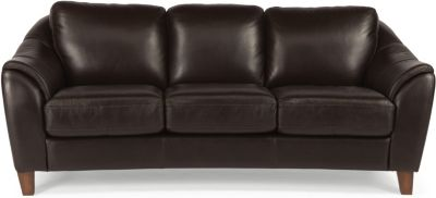 Flexsteel Lidia Brown Leather Sofa
