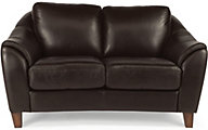 Flexsteel Lidia Brown Leather Loveseat