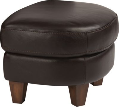 Flexsteel Lidia Brown Leather Ottoman