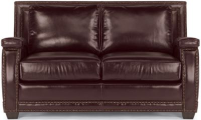 Raleigh 100% Leather Loveseat