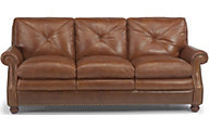 Suffolk 100% Leather Bronze Sofa