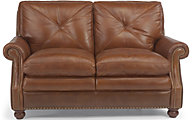 Suffolk 100% Leather Bronze Loveseat