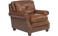 Suffolk 100% Leather Bronze Chair