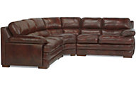 Dylan 100% Leather Espresso 3-Piece Sectional