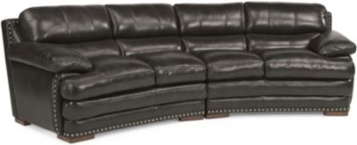 Dylan 100% Leather Black Sofa