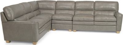 Flexsteel Ivy 4-Piece Leather Sectional