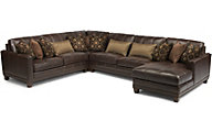 Flexsteel Port Royal Leather 4-Piece Sectional