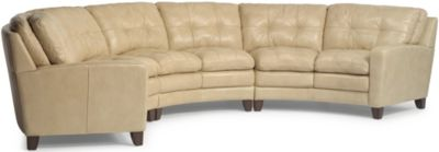 Flexsteel South Street 100% Leather 3-Piece Sectional