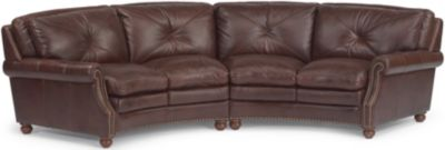 Suffolk 100% Leather 2-Piece Sectional