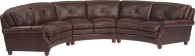 Suffolk 100% Leather 3-Piece Sectional