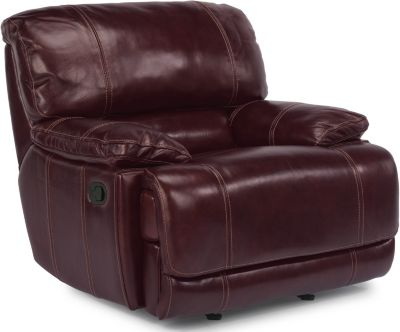 Flexsteel Belmont Burgundy Leather Glider Recliner