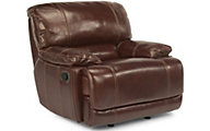 Flexsteel Belmont Brown Leather Glider Recliner