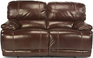 Flexsteel Belmont Brown Leather Reclining Loveseat