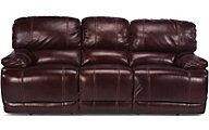 Flexsteel Belmont Burgundy Leather Reclining Sofa