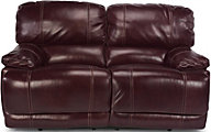 Flexsteel Belmont Burgundy Leather Reclining Loveseat